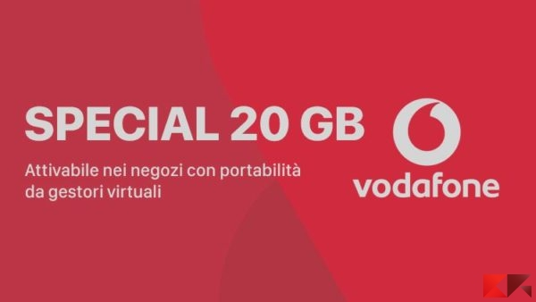 Super offerta Vodafone : Special 20GB e uno Smartphone a 12€