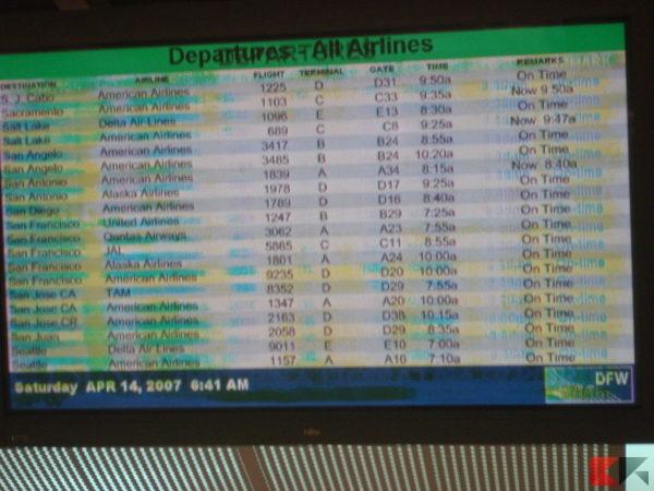 Plasma burn in at DFW airport