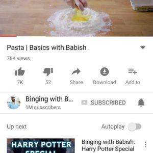 Youtube tema chiaro