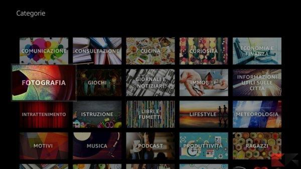 Le categorie in cui sono divise le app sull'App store