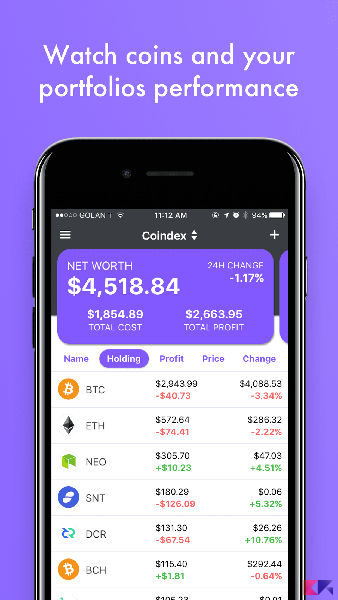 coindex cryptocurrency app