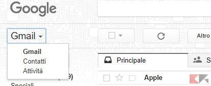 contatti gmail