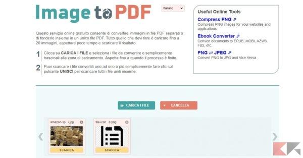 Come creare pdf da immagini chimerarevo - Unire diversi pdf ...