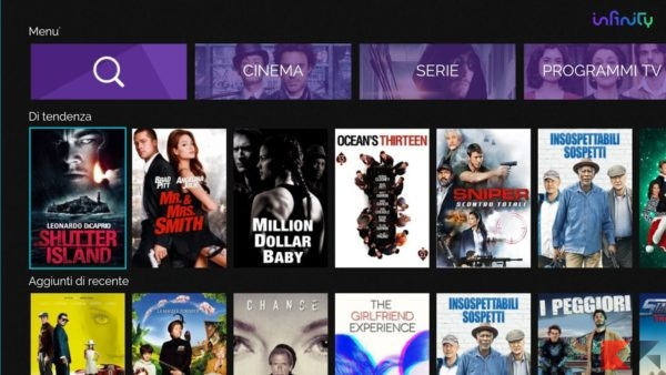 Infinity TV su Fire Tv Stick