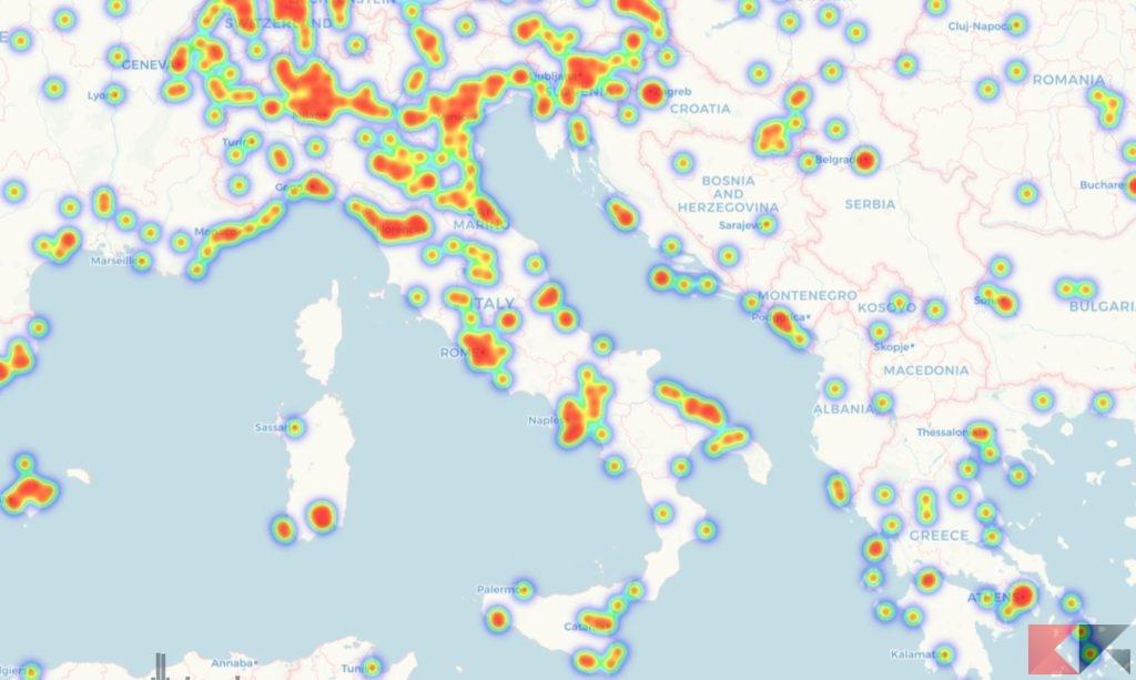 mappa bitcoin