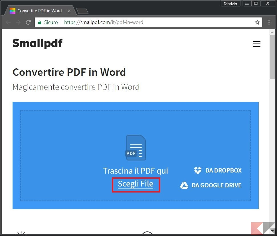 In transformare word pdf
