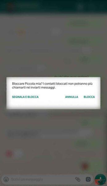Bloccare una persona su WhatsApp