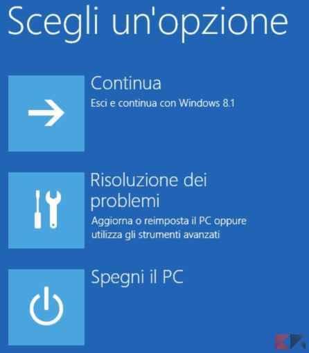 Scegli un opzione - Windows