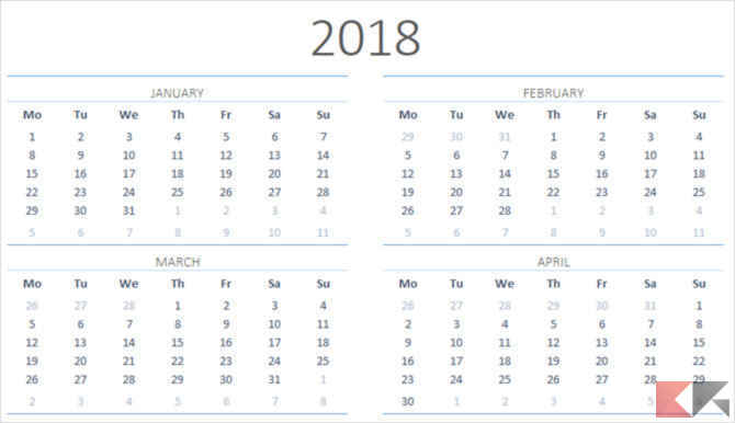 YearlyCalendarTemplate MSOffice1