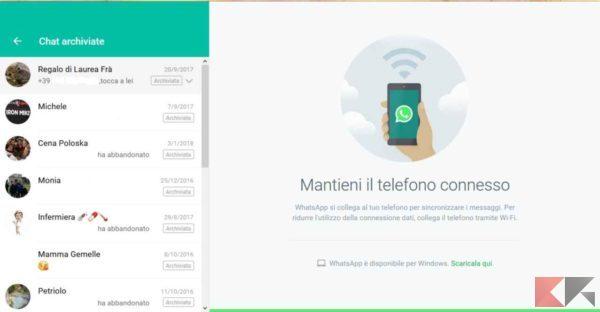 chat-archiviate-whatsapp-dove-trovarle-whatsapp-web-archiviate