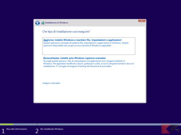 formattare windows 10