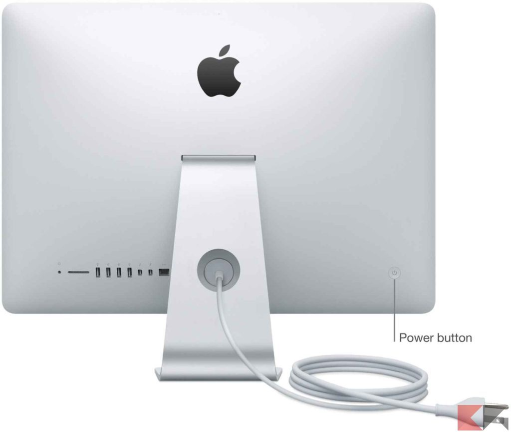 imac product photo power button