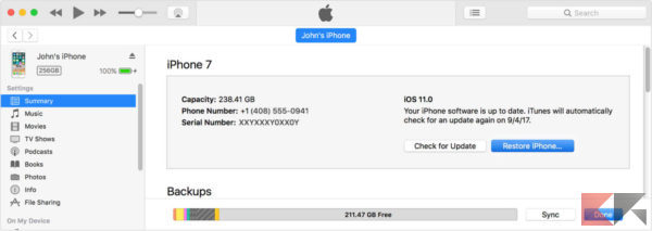 macos itunes 12 7 summary restore iphone on hover