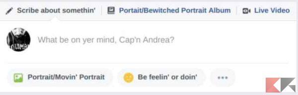 modalità pirata facebook