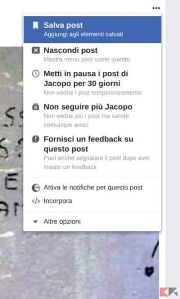 salvare articoli facebook
