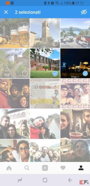 nascondere le foto instagram