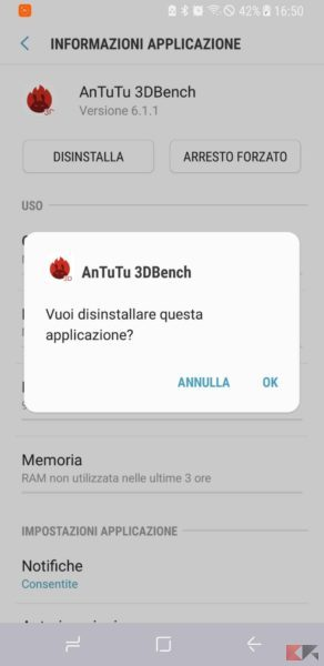 eliminare app android