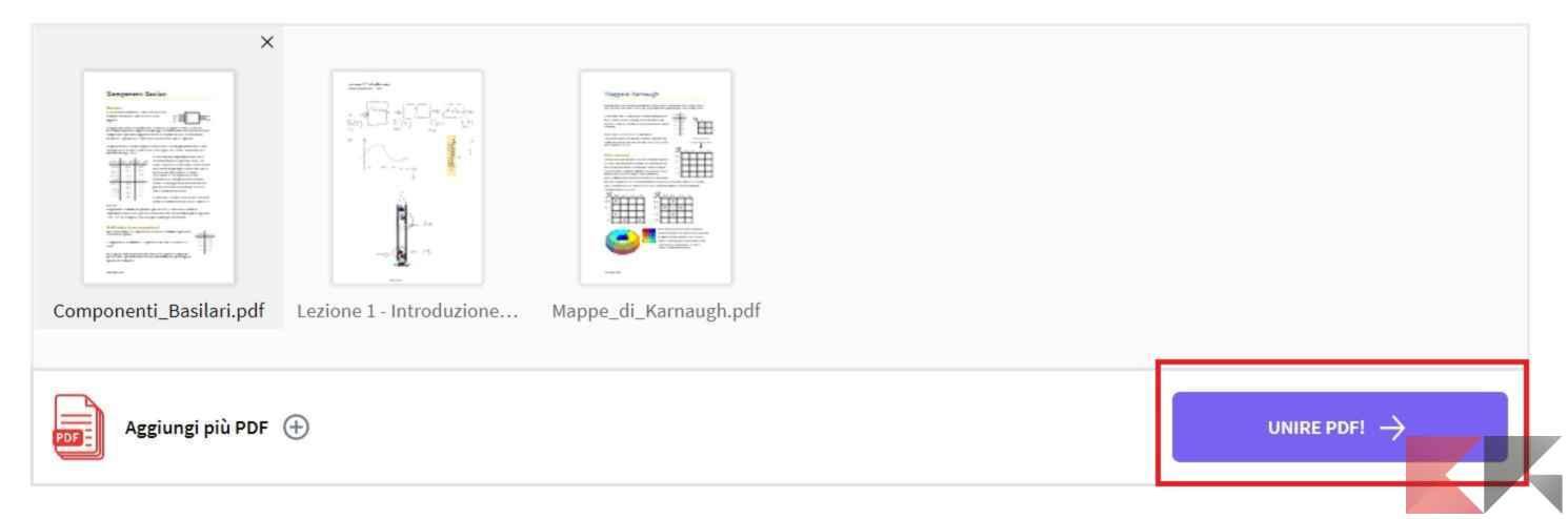 Come unire pdf chimerarevo - Unire diversi pdf ...