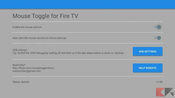 mouse su fire tv: Mouse Toggle for Fire TV