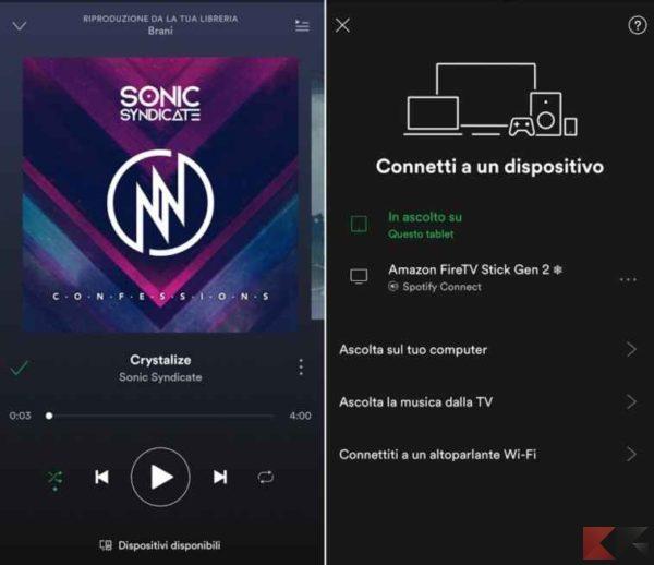 Spotify su Fire TV Stick