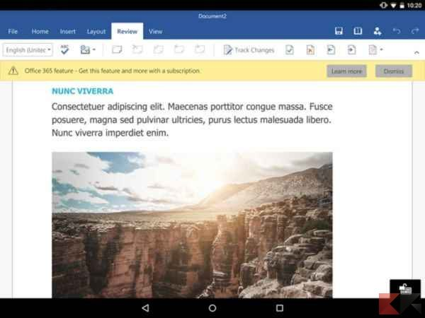 scaricare Microsoft Word gratis