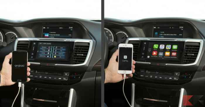 android auto vs Apple CarPlay 1