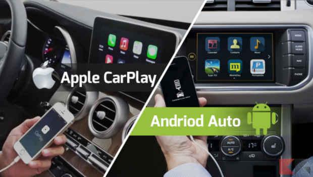 android auto vs apple carplay differenze e confronto. Black Bedroom Furniture Sets. Home Design Ideas