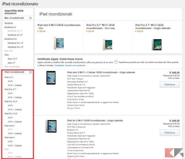 apple ricondizionati - iPad ricondizionati