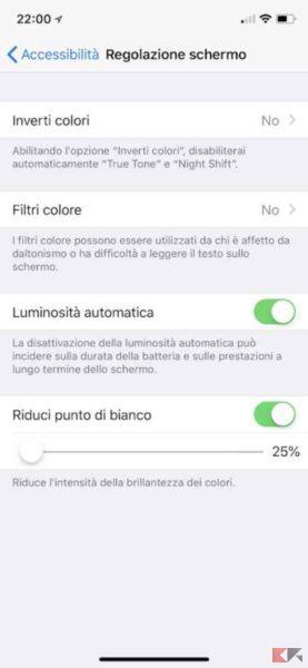 luminosità automatica iPhone