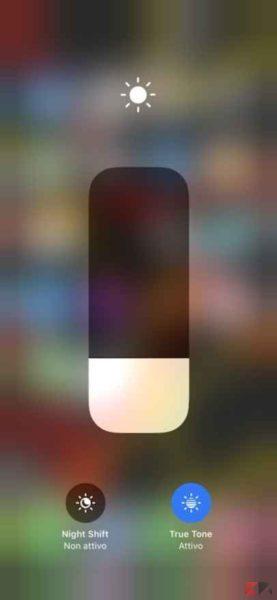 luminosità iPhone