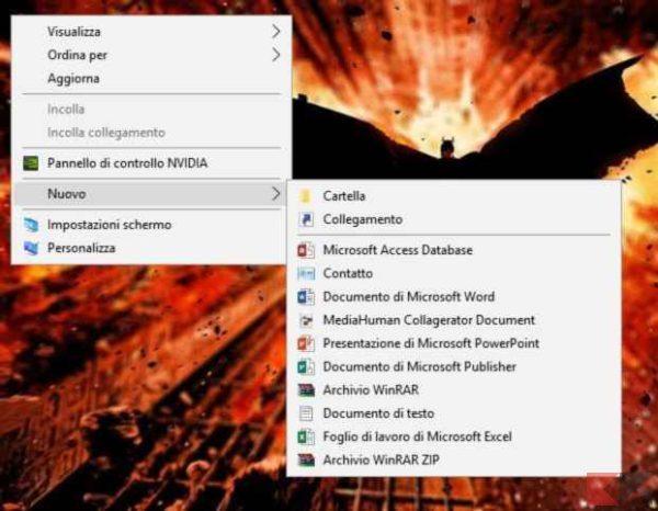 nuovo collegamento desktop