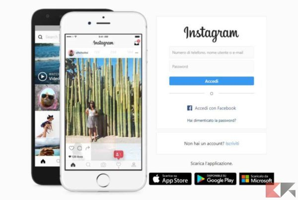 password dimenticata instagram
