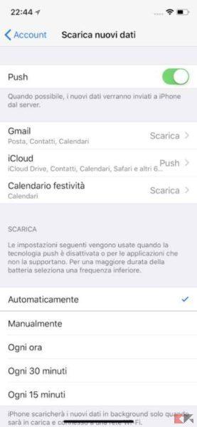servizi push iphone