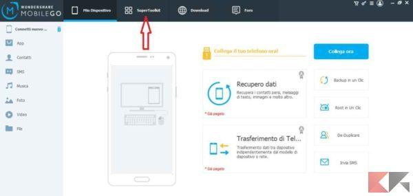 trasferire dati e app da Android ad Android