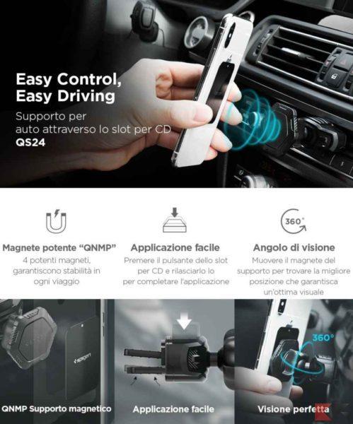 Supporto auto per smartphone Spigen Kuel QS24