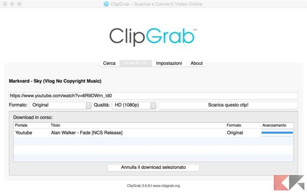 ClipGrab download youtube