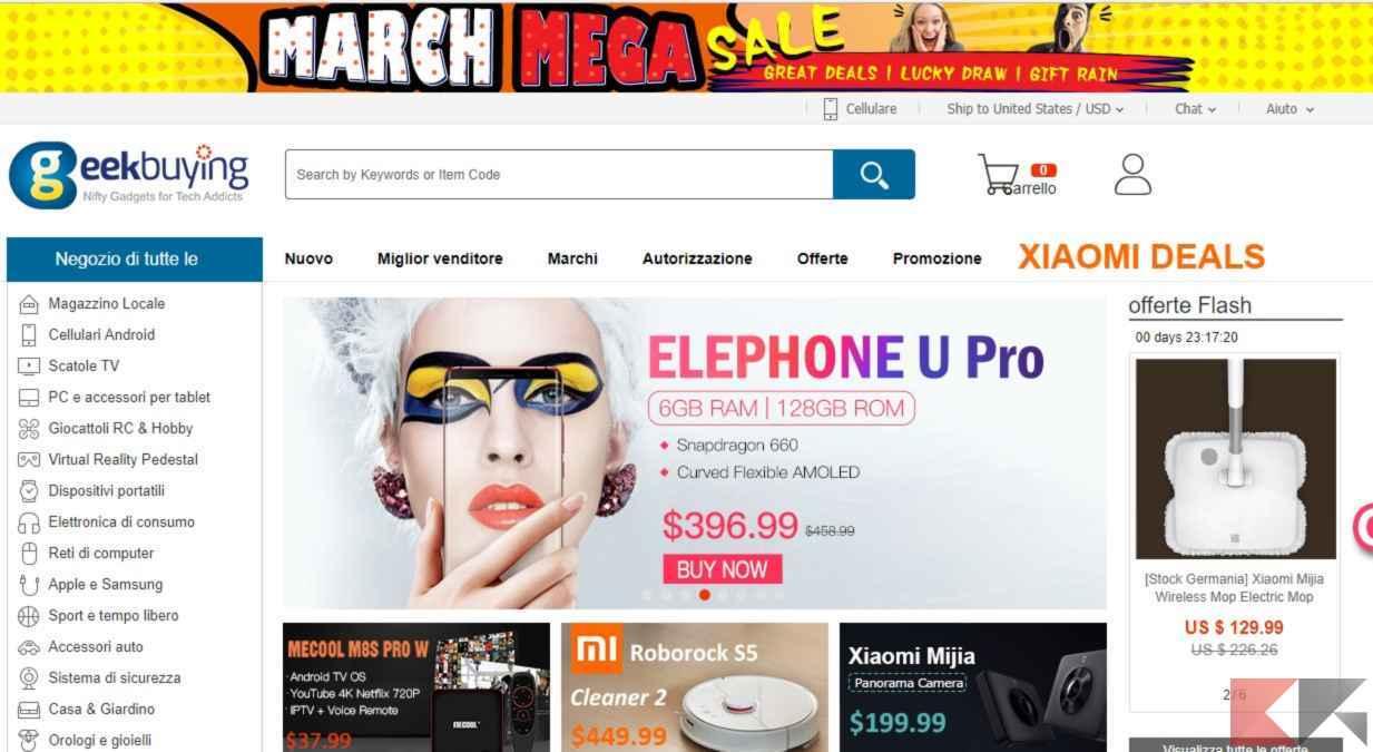 Geekbuying: l'interessante store cinese
