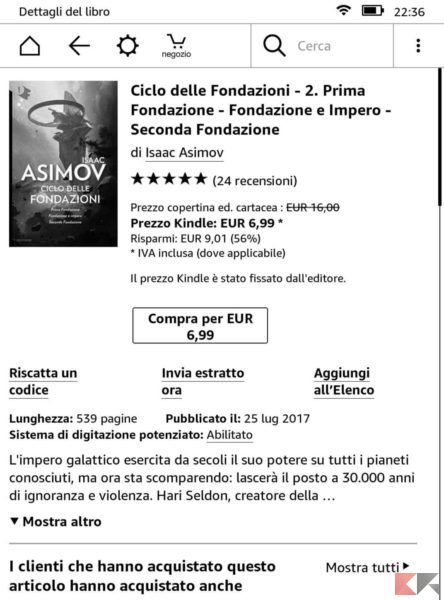 Come scaricare libri o ebook su Kindle
