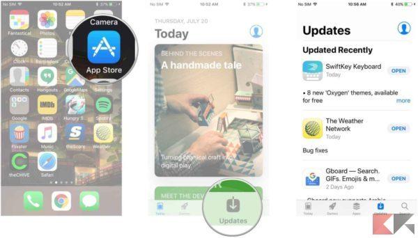 iphone si surriscalda - app store aggiornamento app ios