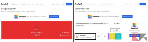 comprimere file PDF senza perdere qualità - Shrinklt