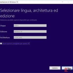 installazione pulita windows 10 4