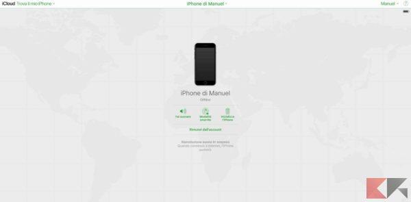 iphone rubato o perso spento - trova il mio iphone