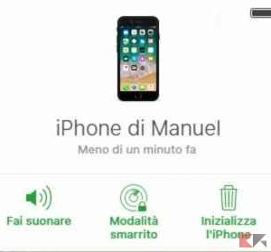 iphone rubato o perso spento - trova il mio iphone