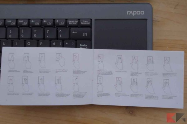 Rapoo K2600 tastiera wireless - tastiera Rapoo K2600 - Sitecom Rapoo K2600
