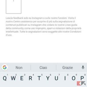 Contattare assistenza Instagram