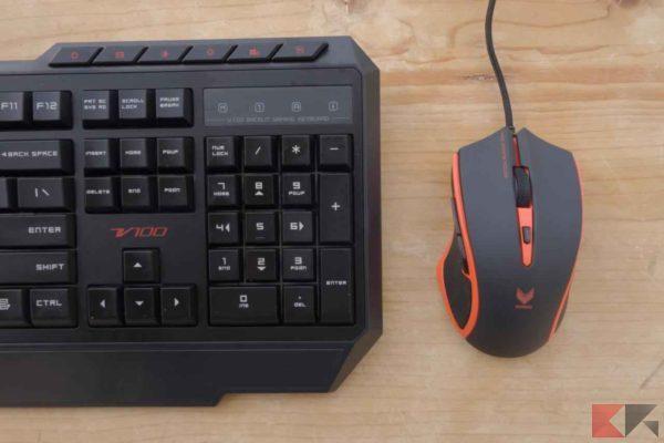 VPRO V100 - Rapoo Set VPRO V100 - Kit VPRO V100 tastiera mouse
