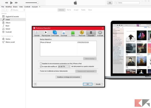 Dove sono i backup di iPhone, iPad e iPod Touch