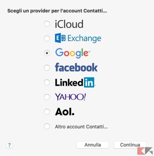 provider contatti