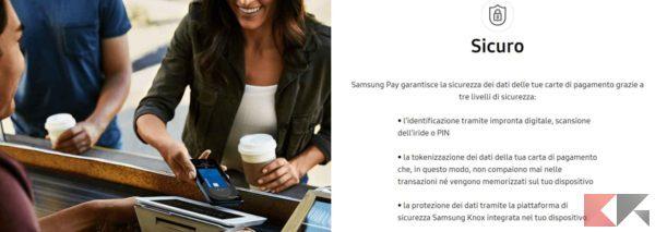 samsung pay sicurezza