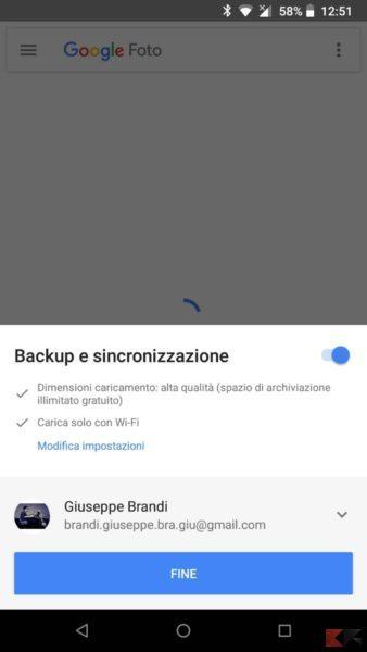 backup google foto